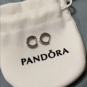 Pandora stud hoopearrings